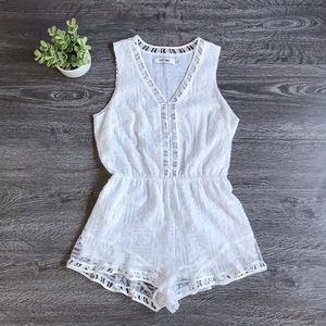 {Do + Be} White Embroidered Romper